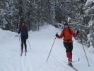 I farta! Ingvill og Ida i løypa i nærheten av Maristua. (Foto: Nina Didriksen)
