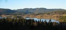 Utsikt nordover i Maridalen i lav novembersol. Foto: Nina Didriksen