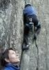 Jorun ser, Vigdis klatrer. Foto: Siri Osvær