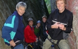 Noen av klatredamene: Ragnhild, Vigdis, Marianne, Siri og Eva Dagrun. Foto: Joru