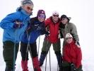 Glade damer på toppen av Veslebjørn (2150 moh). Ragnhild, Jorun J, Anita, Jorun