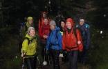 Våte, men fornøyde LT-damer. F.v. Berit, Marianne, Kari P. (bak), Nina, Kaia, Ra