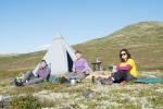 Basecampen vår oppe i Heidalsfjella. (Foto: Rine G. Carlsen)