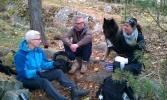 Eva (turleder), Elin, Milan og Marianne. Foto: May-Britt Gjengstø Utheim