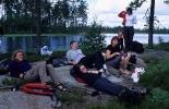 Cathrine, Helga, Anne, Jorun G., Mette og Margaret kosar seg med lunsj og padlep
