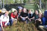 Orrfugltitterne, fra venstre: Marianne, Rine, Kjersti, Nina, Jorun, Kari og Cath