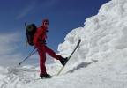 Fornøyd Eva Dagrun på toppen av Fannaråken (Foto: Jorun Bye)