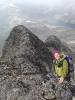 Marianne koser seg med oppstigningen til Mjølkedalstind