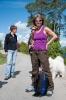 Damene er klare for tur. Fra venstre May-Britt, Vigdis og Berit. (Foto: Rine G.