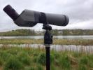 Eit teleskop er ein fin ting for fugletittarar. (Foto: Nina Didriksen)