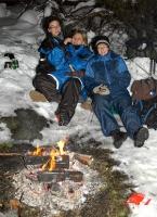 Grilldressdamene: Trine, Eva og Kari. Foto: Rine G. Carlsen