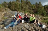 Matpause ved Fiskevollen. Foto: Rine G. Carlsen