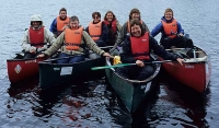 Kanoturgjengen, frå venstre: Mette, Jorun B., Helga, Anne, Cathrine, Jorun G, Ma