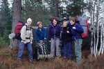 Nina, Vigdis, Renate, NN og Lisbeth er klare til avmarsj etter ein vellukka tur