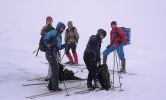 "Vind, snøvær og tendenser til ""white out"" under oppstigningen til Store Smørstab"