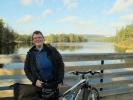 Lesbisk turlags siste sykkeltur i 2011 gikk i supert vær. (Foto: Jorun Jarp)