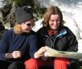 Kart er alltid gøy! Ballongfører (!) Sofia og skifantast Cathrine har ulike innf