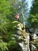 Jorun på toppen av Gaupesteinen (Foto: Anne Marie)