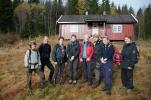 Gruppebilde i nesten solskinn. Foto: Rine Grue Carlsen