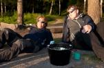 Vigdis og Kari i minst like djupsindig samtale (Foto: Rine G. Carlsen)